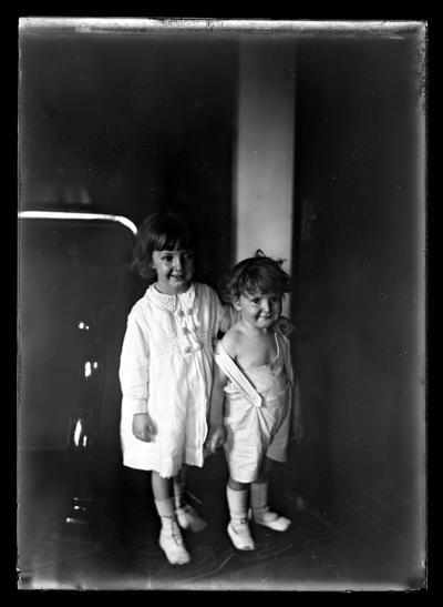 Speyer, boy and girl standing