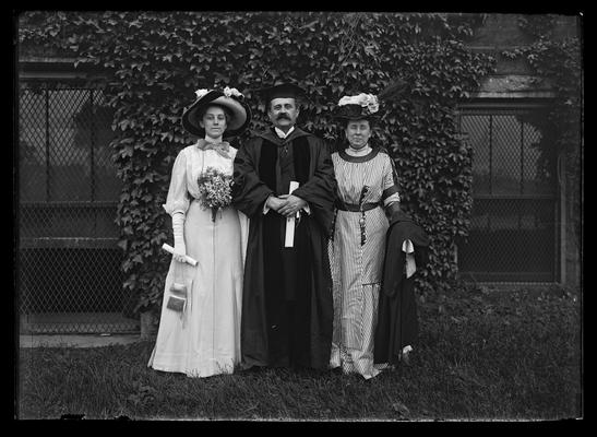 John Blair McAffee with wife and daughter, honorary degree