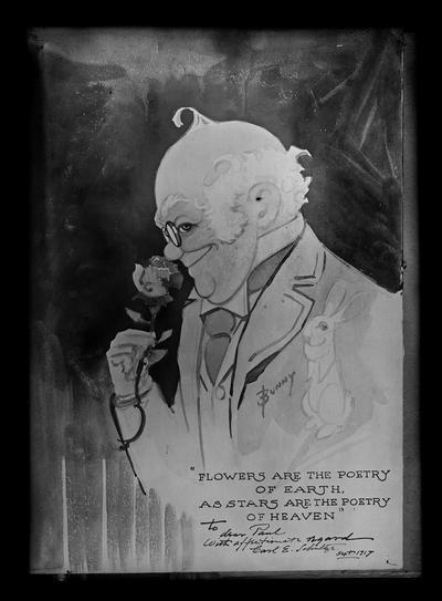 Carl E. Schultze, self portrait to Paul Anderson Foxy Grandpa, Bunny, copy