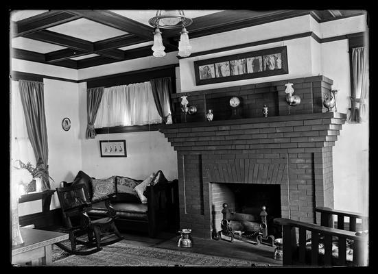 L.K. Frankel, fireplace
