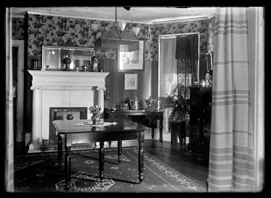 Dining room, rectangular table