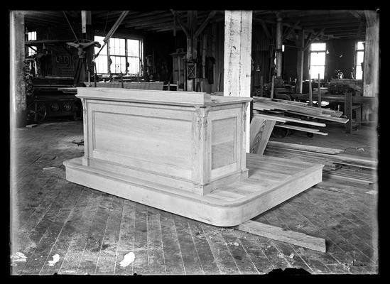 Desk and platform