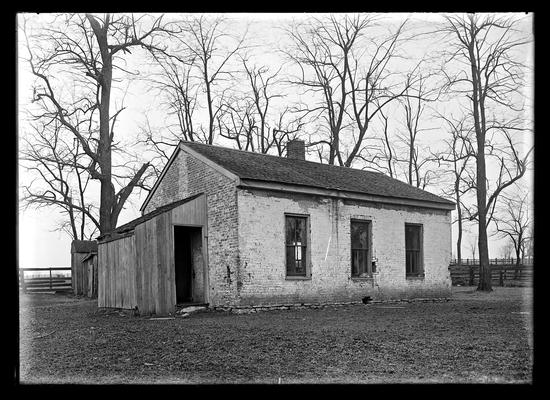 Old brick school with shed, Greendale