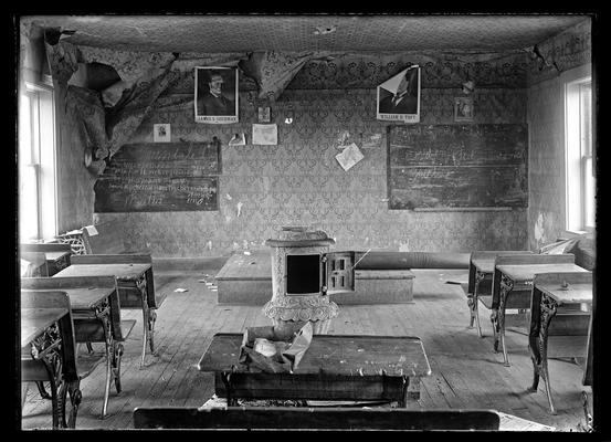 Interior of old Greendale school