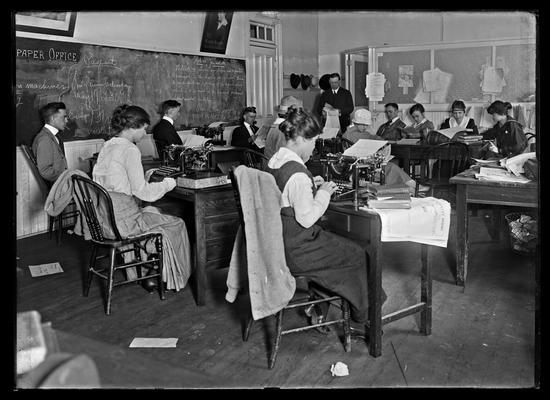 Journalism class, Enoch Grehan, reportail room