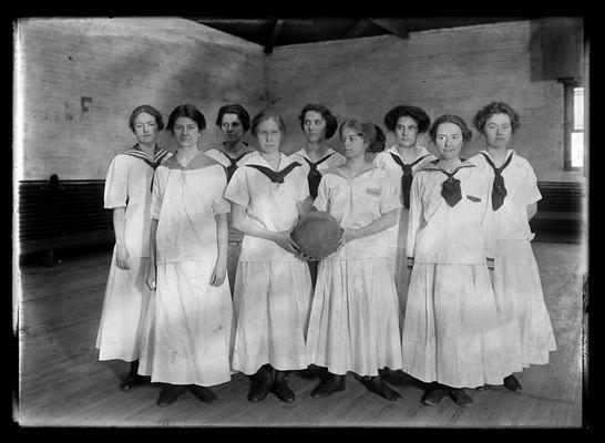 Girls basketball team, standing