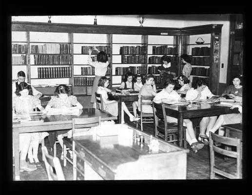 Senior High School students in school library