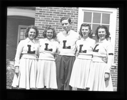Lafayette Cheerleaders, group portrait