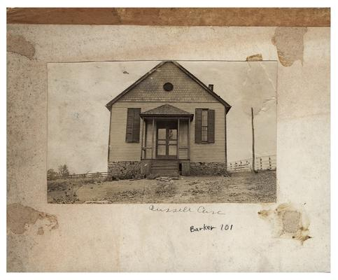 Exterior of the Russell Cave school house