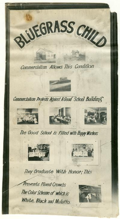The Bluegrass Child: Commercialism allows this condition poster. Handwriting on verso. (Three copies)