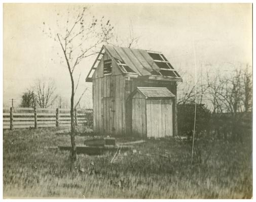 Image of the decrepit shed used in the Bluegrass Child poster. (Two copies)