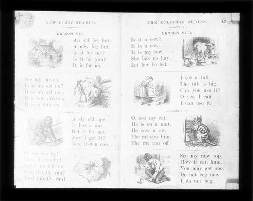 Pages from McGuffey's First Eclectic Reader: For young Learners