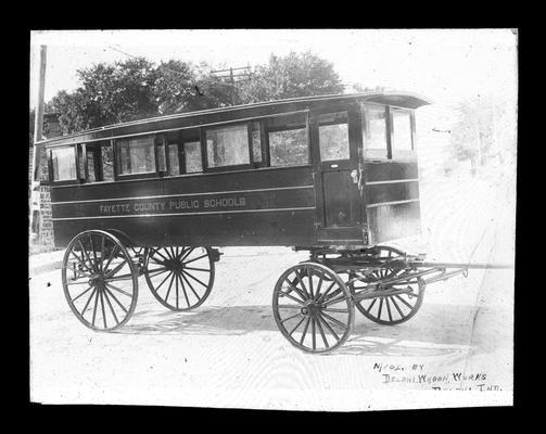 Horse-drawn Fayette County school bus