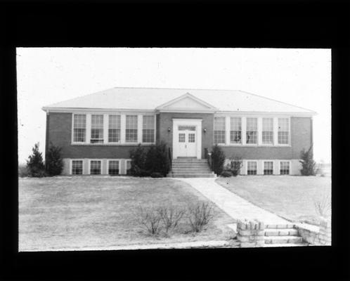 Exterior view of Shelby School, built in 1934