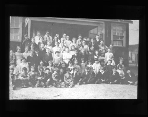 Group portrait of unidentified students