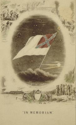 Inset of Confederate States of America flag, with caption