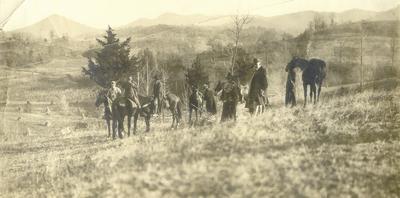 Unidentified group of men on horseback