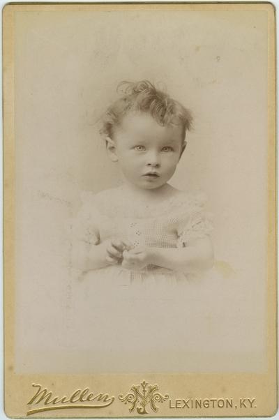 Unidentified child; from page twenty-six of album