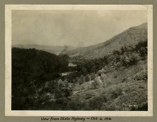 Title handwritten on photograph mounting: View from State Highway