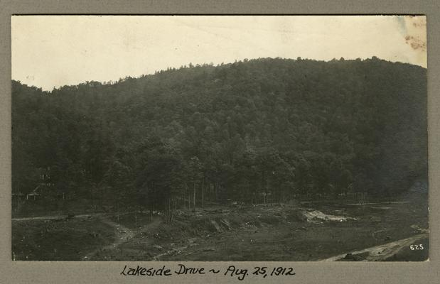 Title handwritten on photograph mounting: Lakeside Drive