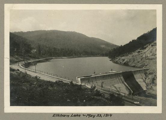 Title handwritten on photograph mounting: Elkhorn Lake