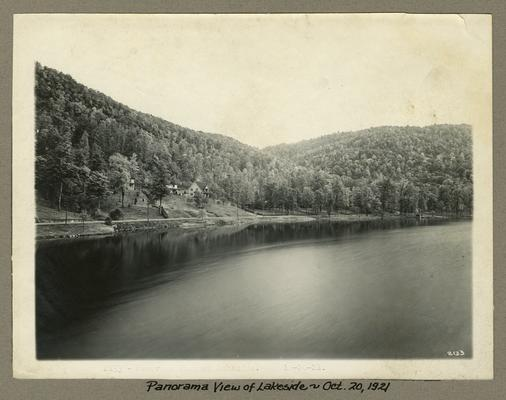 Title handwritten on photograph mounting: Panorama View of Lakeside