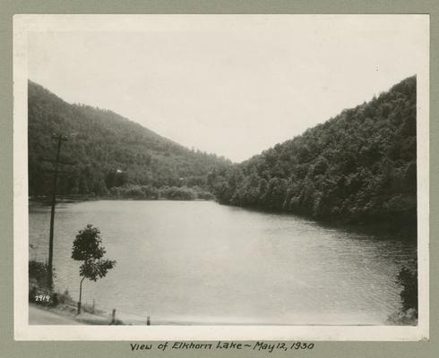 Title handwritten on photograph mounting: View of Elkhorn Lake