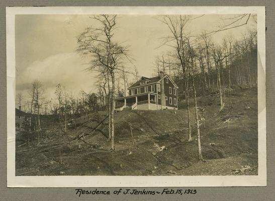 Title handwritten on photograph mounting: Residence of J. Jenkins