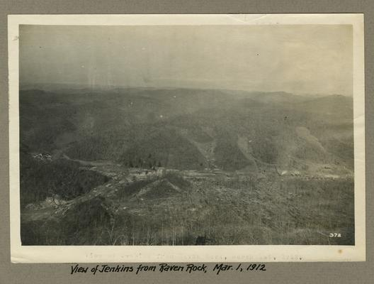 Title handwritten on photograph mounting: View of Jenkins from Raven Rock