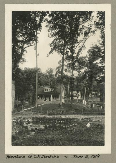 Title handwritten on photograph mounting: Residence of O.F. Jenkins