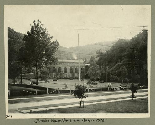 Title handwritten on photograph mounting: Jenkins Power House and Park