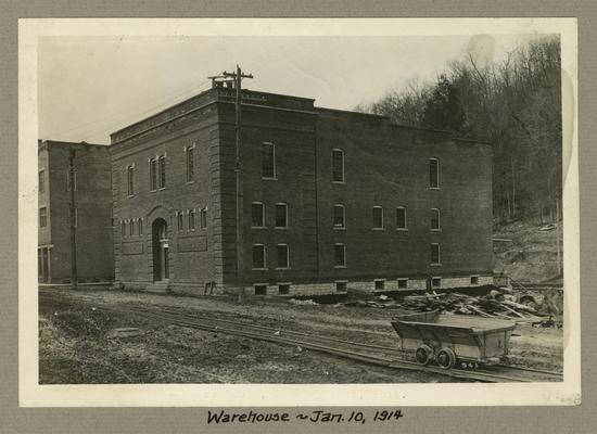Title handwritten on photograph mounting: Warehouse