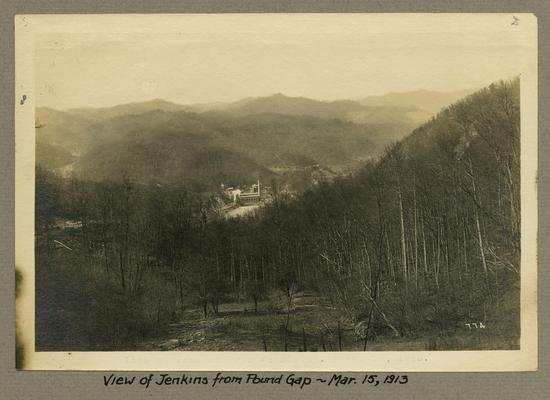 Title handwritten on photograph mounting: View of Jenkins from Pound Gap