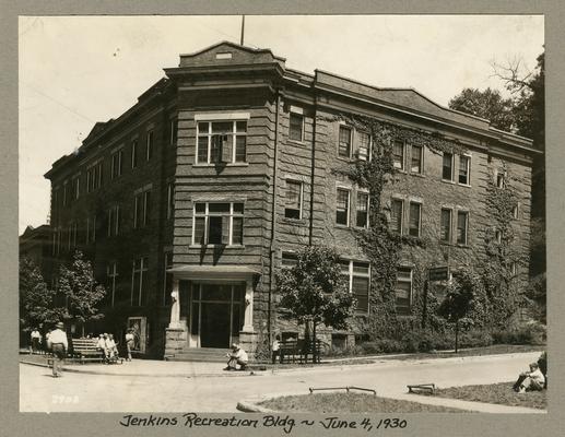 Title handwritten on photograph mounting: Jenkins Recreation Building