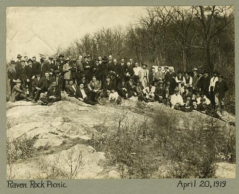 Title handwritten on photograph mounting: Raven Rock Picnic