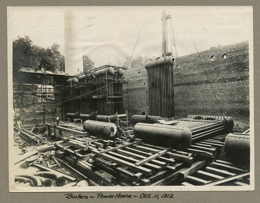 Title handwritten on photograph mounting: Boilers--Power House
