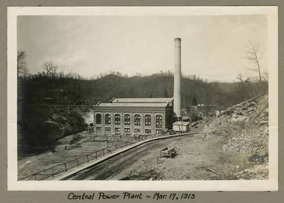Title handwritten on photograph mounting: Central Power Plant