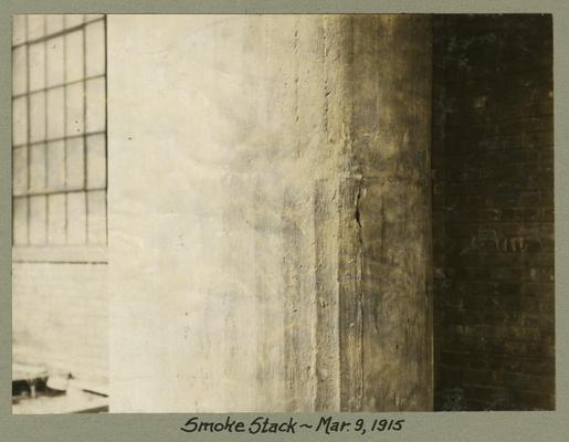 Title handwritten on photograph mounting: Smoke Stack