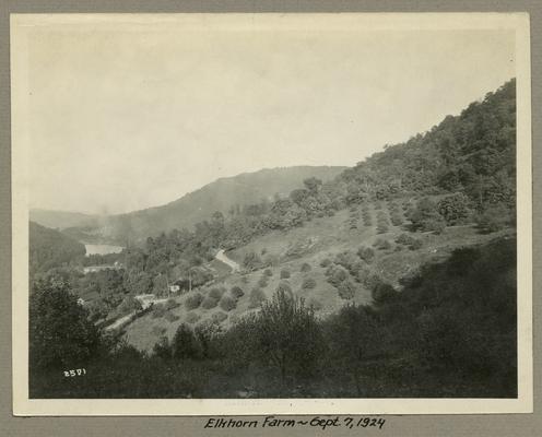 Title handwritten on photograph mounting: Elkhorn Farm