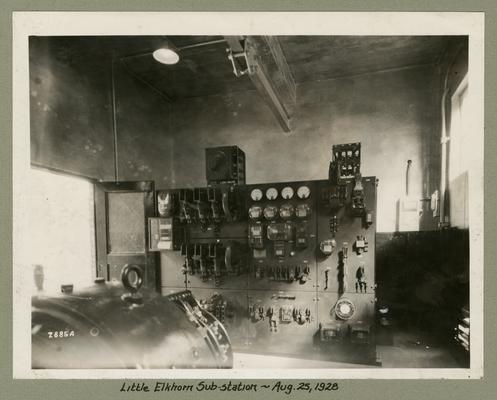 Title handwritten on photograph mounting: Little Elkhorn Substation