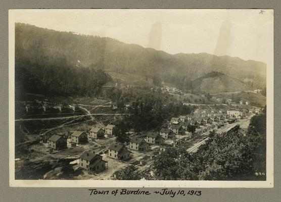 Title handwritten on photograph mounting: Town of Burdine