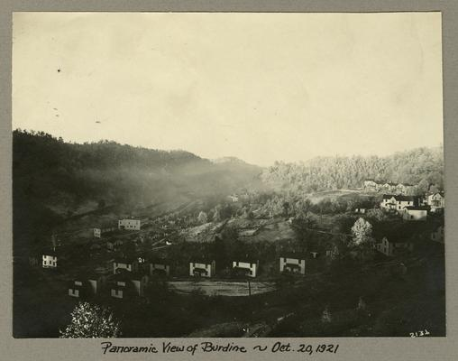 Title handwritten on photograph mounting: Panoramic View of Burdine