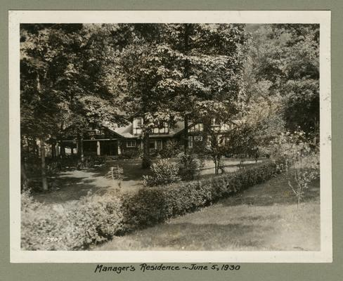 Title handwritten on photograph mounting: Manager's Residence