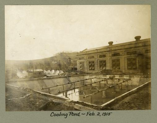 Title handwritten on photograph mounting: Cooling Pond