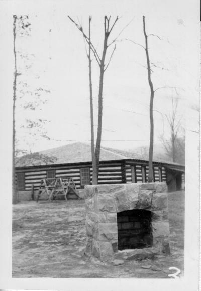 Bathouse and outdoor oven at Bartlett State Park in Middlesboro