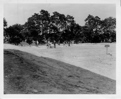 Williamstown Football Field.  Grading Football Field at Williamstown,  Grant Co