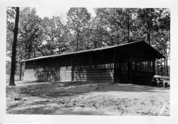 Screened dining shelter in City Park at Madisonville