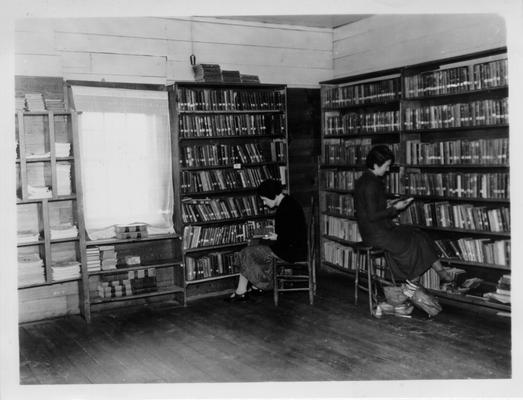 Interior view of McKee Public Library operated by WPA