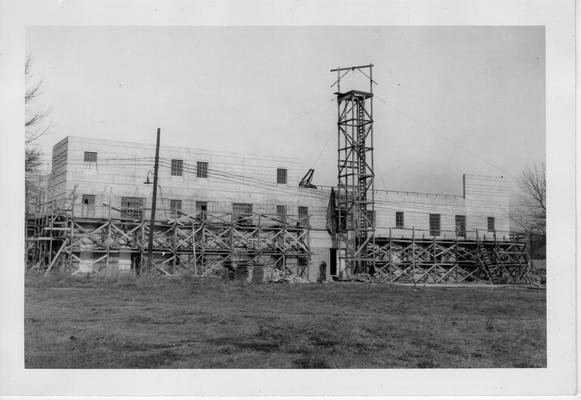 Backview of State Fairgrounds restaurant construction