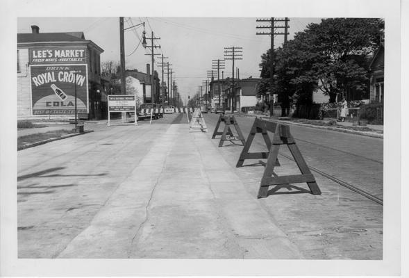 15th Street car rail removal, 1942-1943